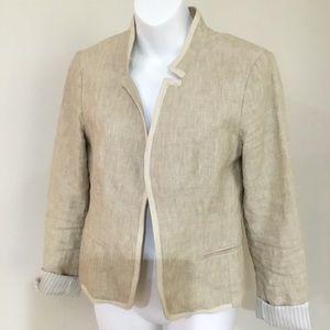 LOFT linen crop blazer